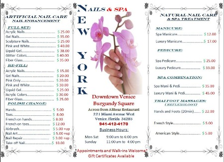 Nail salon prices for A list nail salon